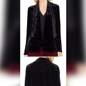 Sweaters - Vince Camuto black velvet drapery open cardigan